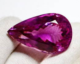 123.75 Cts Unheated ~ Museum Grade Purple Pink Kunzite Gemstone