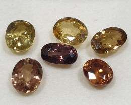 10 ct Yellow Red Brown Zircon Lot