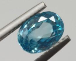 3.3 ct Blue Zircon Oval 9x6.3mm
