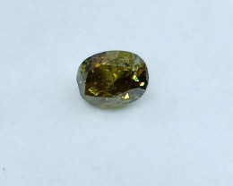 0.32ct Fancy Deep brownish Green  Diamond , 100% Natural Untreated