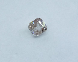 0.17ct  Light brownish Pink Diamond , 100% Natural Untreated
