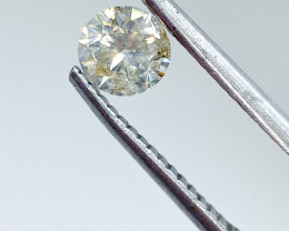 0.51ct Light Green Yellow  Diamond , 100% Natural Untreated