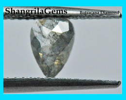 0.58ct 7.1mm Kite shape Salt and Pepper grey diamond 7.1 by 5.1 by 2.1mm