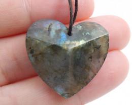 26.5cts Faceted LABRADORITE Heart -Labradorite Stone, Healing Gemstone Hear