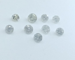 2.41ct  Fancy White Diamond Parcel , 100% Natural Untreated