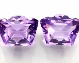⭐Exciting Violet Purple Hued Amethyst Pair - Fancy cut