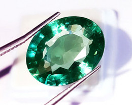 2.15 ct Natural Zambian Emerald Certified Magnificent Top Stone!