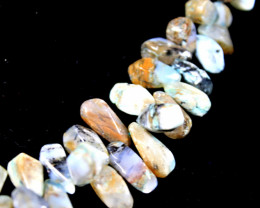 397 Tcw. Indian Agate Sweater Necklace - Fun
