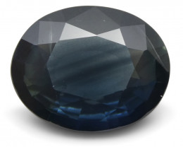 4.06 ct Blue Sapphire Oval IGI Certified Ethiopian, Unheated