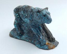 Handmade Carved Turquoise bear Cabochon, Animal Gemstone Decoration H5707