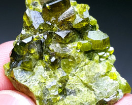 Cute and lovely Epidote Cluster have good luster 60Cts-Afghanistan