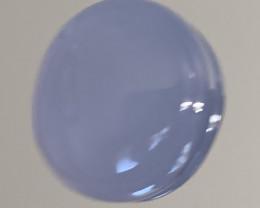 A Blue Mauve Chalcedony gem Cabochon - No reserve ~