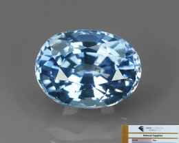 CERTIFED~1.55 CTS EXCLUSIVE NATURAL SOFT BLUE SAPPHIRE OVAL CEYLON!