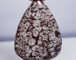 31.25 ct Natural Snowflake Pear Cabochon Gemstone