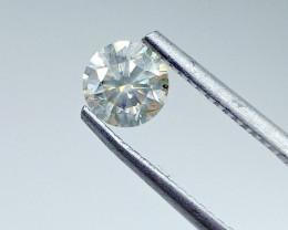 0.82ct  Light yellowish Green Diamond , 100% Natural Untreated