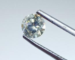 0.87ct Light grayish Green   Diamond , 100% Natural Untreated