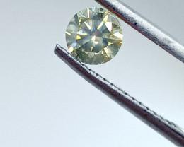 0.55ct Fancy Light Yellow Green  Diamond , 100% Natural Untreated
