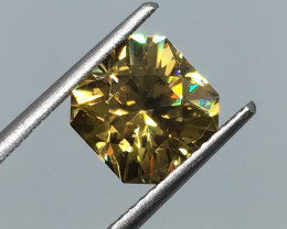 3.63 Carat VVS Zircon Master Cut Multi Color Flash Unheated Tanzania Rare !