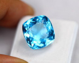 21.33Ct Swiss Blue Topaz Cushion Cut Lot LZ2438