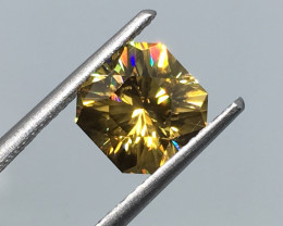 3.01 Carat VVS Zircon Multi Color Flash Master Cut Tanzania Rare Quality !