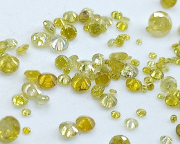 2.03ct  Yellow Diamond Parcel , 100% Natural Untreated