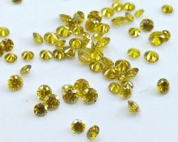 1.38ct Fancy Vivid Yellow  Diamond Parcel  , 100% Natural