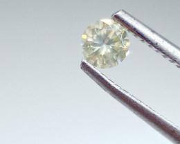0.31ct Fancy Light Yellowish Green  Diamond , 100% Natural Untreated