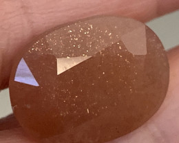 10.53ct CHATOYANT  SUNSTONE without much Sun :)