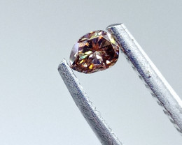 0.17ct Fancy Brown Pink  Diamond , 100% Natural Untreated