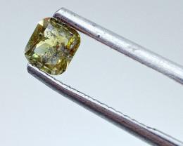 0.515ct Fancy Deep brownish yellowish Green  Diamond , 100% Natural Untreat