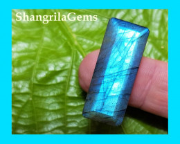 30mm Labradorite oblong gemstone faceted 24ct 30 by 12 by 7mm