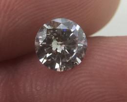 (B3) Gorgeous IGL Cert $1085 Nat 0.61ct. Round Brilliant White Diamond