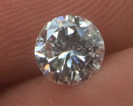 (B4) Superb  IGL Certified $1371 Natural 0.56ct. Round Brilliant White Diam