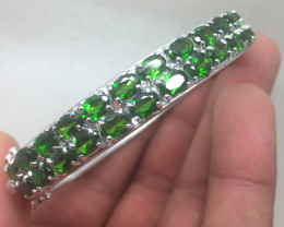 (B7) Ravishing Nat 161.5tcw. Chrome Diopside Bangle
