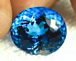 34.14 Carat Brazilian VVS1 Swiss Blue Topaz - Stunning