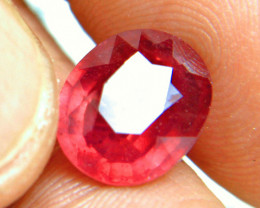 6.85 Carat Fiery Red Ruby - Gorgeous