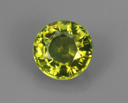 .73CT 5.5mm ROUND VVS CHARTREUSE GREEN TOURMALINE
