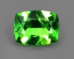 MASTER CUT .78CT 6.4mm ELECTRIC GREEN COLOR VS TSAVORITE GARNET