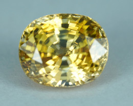13.22CT FLAWLESS ELECTRIC GOLDEN YELLOW NATURAL ZIRCON