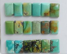 Square Turquoise  ,Handmade Gemstone ,Turquoise Cabochons ,Lucky Stone C584