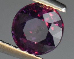 CERTIFIED UNHEATED 1.08CT Round Cut PURPLE SAPPHIRE