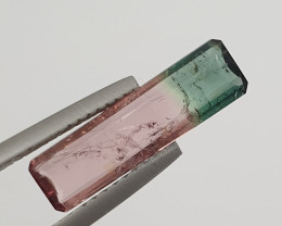 Watermelon Bicolor Tourmaline Octagon 2ct Pink And Green Tourmaline(SKU 77)