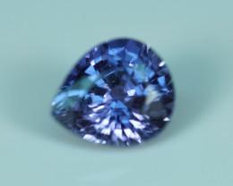 1.32CT UNHEATED Hot Color PURPLE-BLUE Pear Cut Sapphire