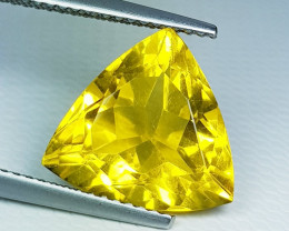 "6.05 ct "" Top Quality Gem "" Excellent Triangle Cut Natural Fluori"
