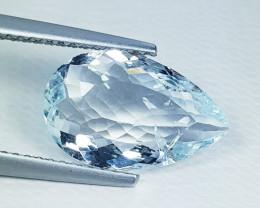"3.05 ct "" Exclusive Gem "" Stunning Pear Cut Natural Aquamarine"