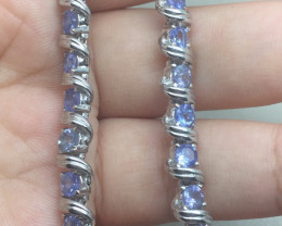 (LBA) Brilliant 77.20tcw Nat. Tanzanite bracelet