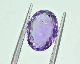4.08 Crt Natural Amethyst Uruguay Faceted Gemstone.( AG 46)