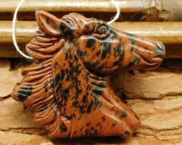New design mahogony obsidian horse craft pendant bead handmade horse (G0254