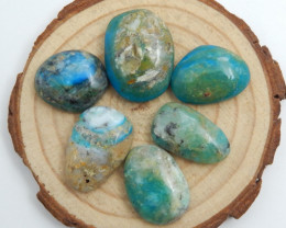 6pcs Blue Opal Cabochon, October Birthstone, Blue Opal Bead C585