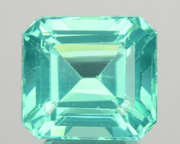 ~GLOWING~ 1.42 Cts Natural Apatite (Paraiba Color) Octagon Cut Brazil